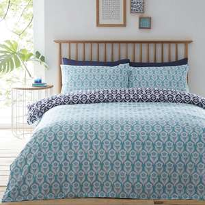Debenhams blue 'Freya' floral 2 pack single bedding set (superking also in stock) - £10.50 with free C+C using code