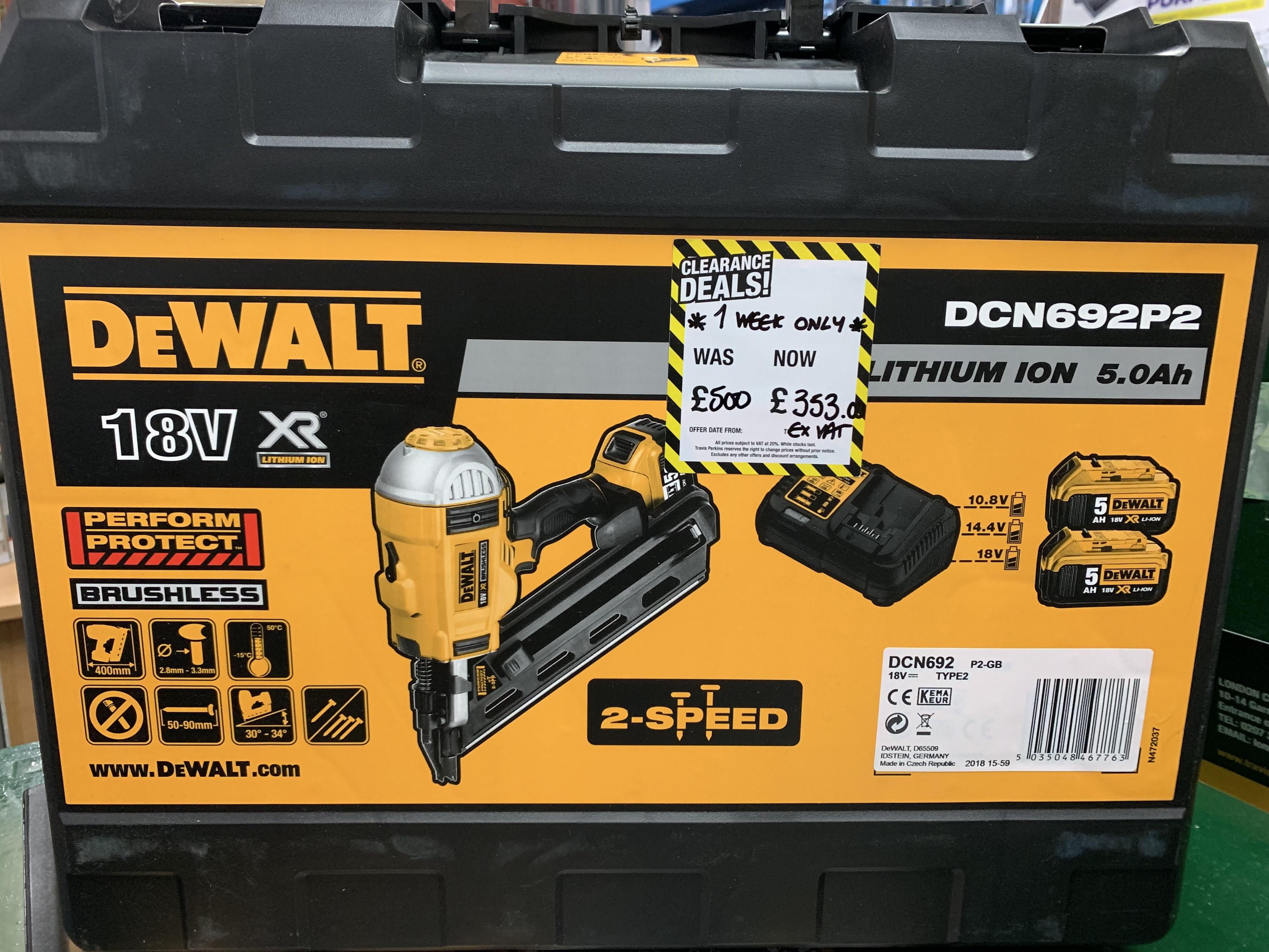Dewalt 1st Fix Nail Gun - £420 Instore @ Travis Perkins (London)