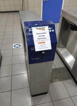 EUSTON Station, London - Now Makes The Toilet Access Free