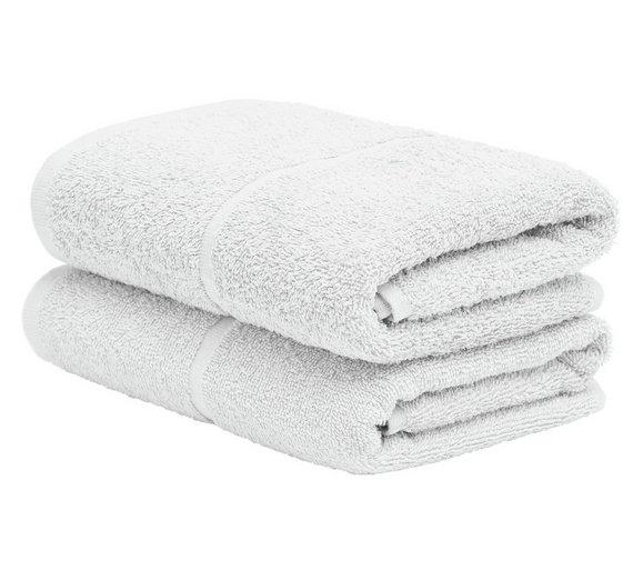 Pair of Hand Towels - Super White  Was £6.99, Now £4.00 free C&C @ Argos