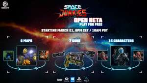 Space Junkies (PlayStation & Steam) Open Beta 21-24 March @ Ubisoft