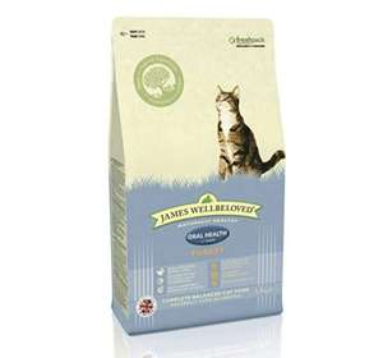 James Wellbeloved Oral Health Cat Food Turkey 4 kg £12.49 Prime only @ Amazon