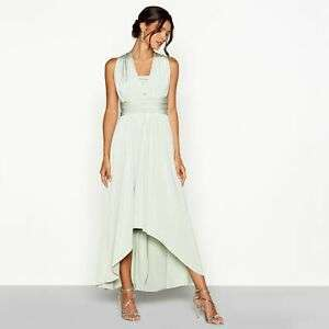 Debut Womens Pale Green Multiway High Low Dress ( Bridesmaid Dress?) Avaiable in 4 colours (was £79) Now £20 C&C at Debenhams / eBay
