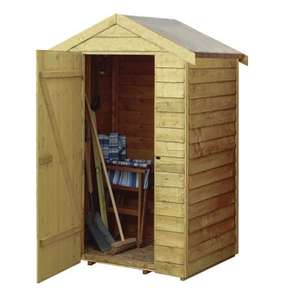 Rowlinson 4 X 3 Ft Overlap Wooden Shed now £85 C+C with code @ Wickes