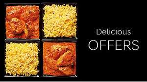 Indian Takeaway Meal deal - 2 mains & 2 sides for £10 in store @ Marks & Spencer