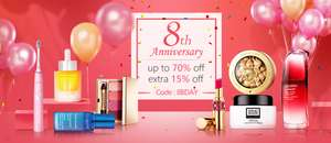 Extra 15%  off Beauty & Make-up with Code @ Unineed