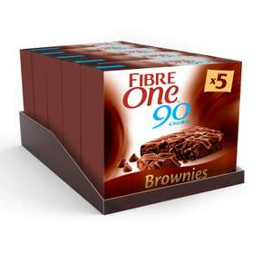 Fibre One Chocolate Brownies 24g (5 packs of 5 bars) for £6.12 Prime or £10.61 Non-Prime if ordering less than £20 of qualifying items