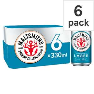 Maltsmiths lager half price - 6 x 330ml - Asda - £5  (£2.50 with Checkout Smart) works out at £1.26 per litre