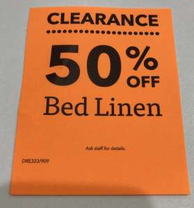 50% OFF ALL BED LINEN @ Dreams From Friday!