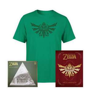 Legend of Zelda Bundle - The Legend of Zelda: Art and Artifacts / Mirror / T-shirt £27.98 with New account code otherwise £30.98 @ Zavvi