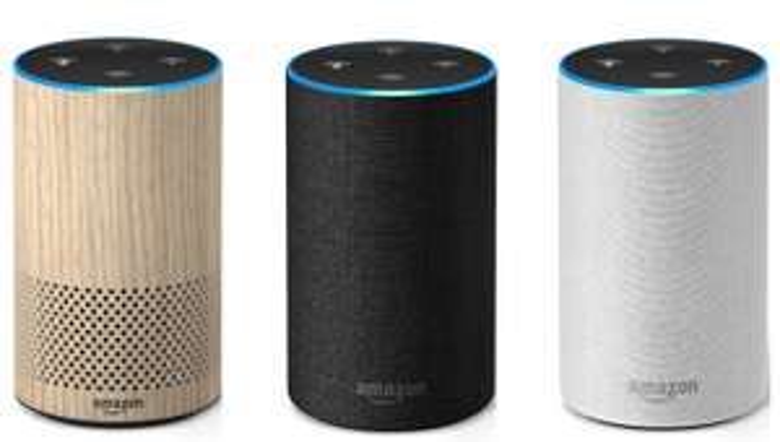 [Certified Refurbished] Amazon Echo (2nd Gen.) - Oak Finish / Charcoal Fabric / Sandstone Fabric £59.99 with 1-year warranty as New @ Amazon
