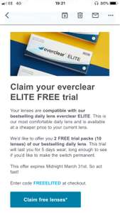 Everclear Elite Contact Lenses Free Trial - Just Pay P&P (£2.98) @ Vision Direct
