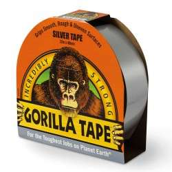 Gorilla Tape Silver – 11m + other colours Was £4.99, Now £3.14 with code free C&C @ Robert Dyas & Ryman Stores