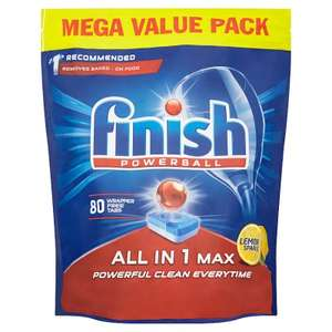 Finish Powerball All in 1 Max Lemon 80pk £5 instore at Asda Leicester