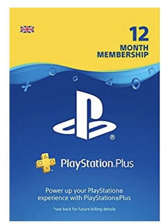 PS plus - 12 month membership £37.49 Amazon