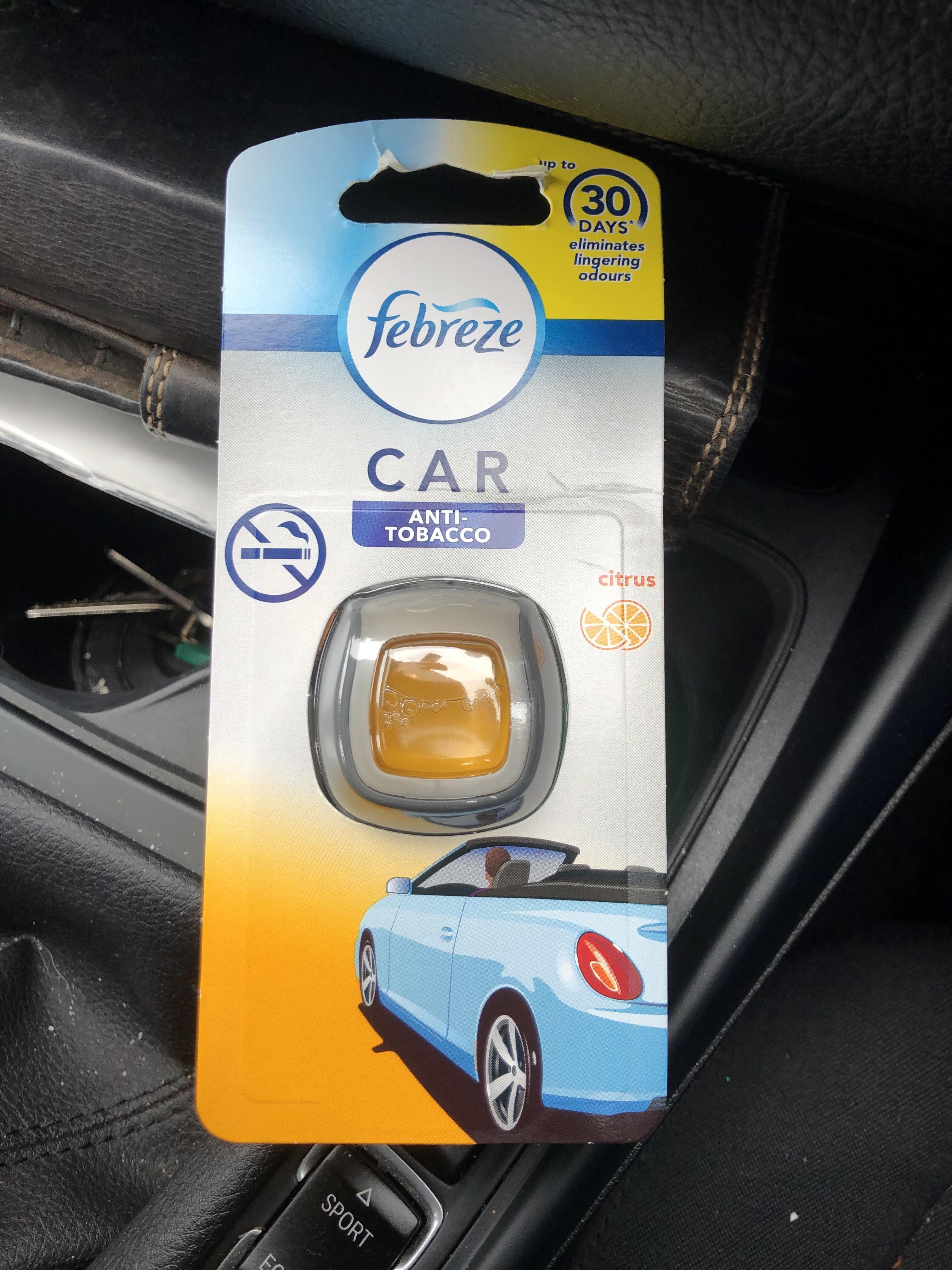 Febreze Clip On Anti Tobacco Car Freshener 10p @ Wilko