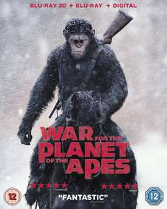 War For The Planet Of The Apes (Blu-ray 3D + Blu-ray + Digital) - £4.99 Delivered @ eBay / The Entertainment Store [More in OP]