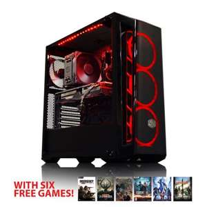 AWD Gaming PC - Ryzen 5 2600X / Strix RX 580 OC 8GB / 240GB SSD / 8GB 3000Mhz RAM + 6 Free Games £599.99 / £639.58 with 1TB HDD @ AWD