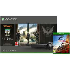 Xbox One X 1TB with Tom Clancy's The Division 2 (Digital Download) and Forza Horizon 4 (Disc) with 1 Month Xbox Game Pass at ao.com £409