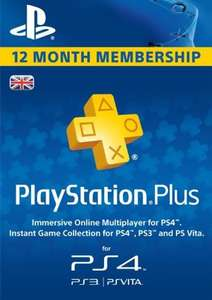 PlayStation Plus - 12 Month Subscription £33.99 / £32.97 with FB code @ CDKeys