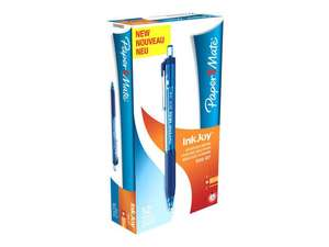 Paper Mate Inkjoy 300 Retractable Ballpoint Pens - Medium, Blue x12 - 75p @ Office Outlet - COLLECTION ONLY