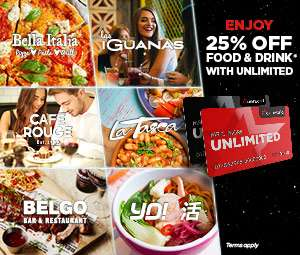 Unlimited Card Discounted - £17.90 - Instore Only @ Cineworld