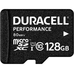 Duracell Performance 128GB Micro SD Card (SDXC) UHS-I U1 - 80MB/s £16.99 @ My Memory - Buy one and get 2nd one at 50% OFF