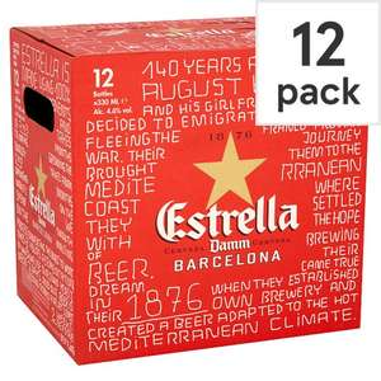 Estrella Beer 12x330ml cases £8.76 instore @ Tesco Extra