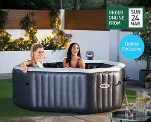 ALDI Theinflatable pool, for £349.99 with  120 powerful air jets and a 2200W heater, the 795 litreLUXURY,can be order online FROM March 31