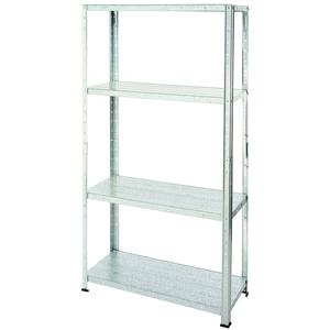 Galvanised Steel 4 Shelf Storage Unit - weight capacity 200kg - £10 C+C @ Homebase
