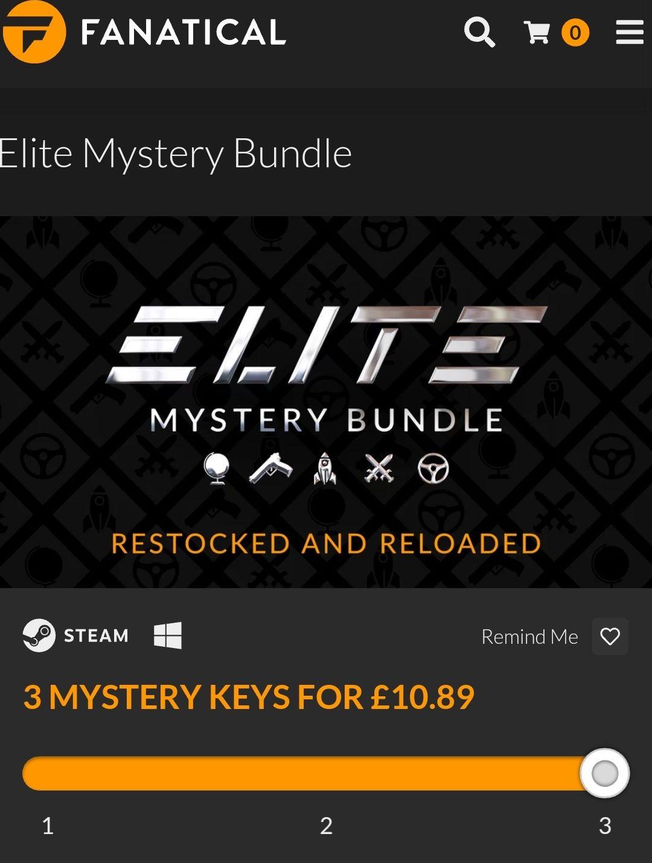 Fanatical - Elite Mystery Bundle 1-3 keys for premium Steam Games - £10.89