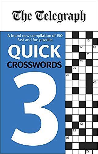 Telegraph quick crosswords 3 £2 prime  (+ £2.99 delivery non prime) at Amazon