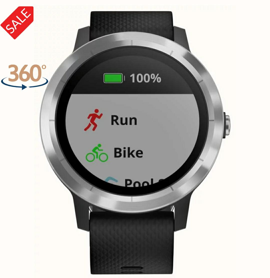 Garmin Vivoactive 3 HR Multisport Tracker Black Rubber Silver Bezel £160.45 with Sign Up code @ First Class Watches