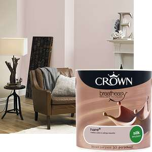 3 for 2 - Crown Coloured Emulsion & Sandtex Masonry Paint @ Homebase