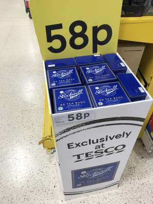 Medium strength tea 80 tea bags - 58p instore @ Tesco