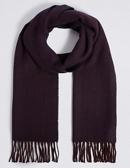 Men's Herringbone Scarf with Wool - £5 @ M&S (Free C&C)