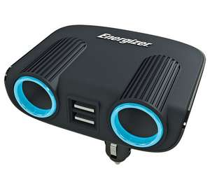Energizer 12V Twin Socket and Twin USB Adapter @ Argos - Free C+C £10.99