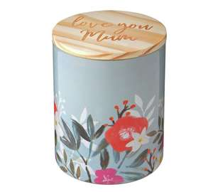 'Love You Mum' Decorated  Glass Candle with Wooden  Lid  Was £6.00, Now £4.80 free C&C  @ Argos