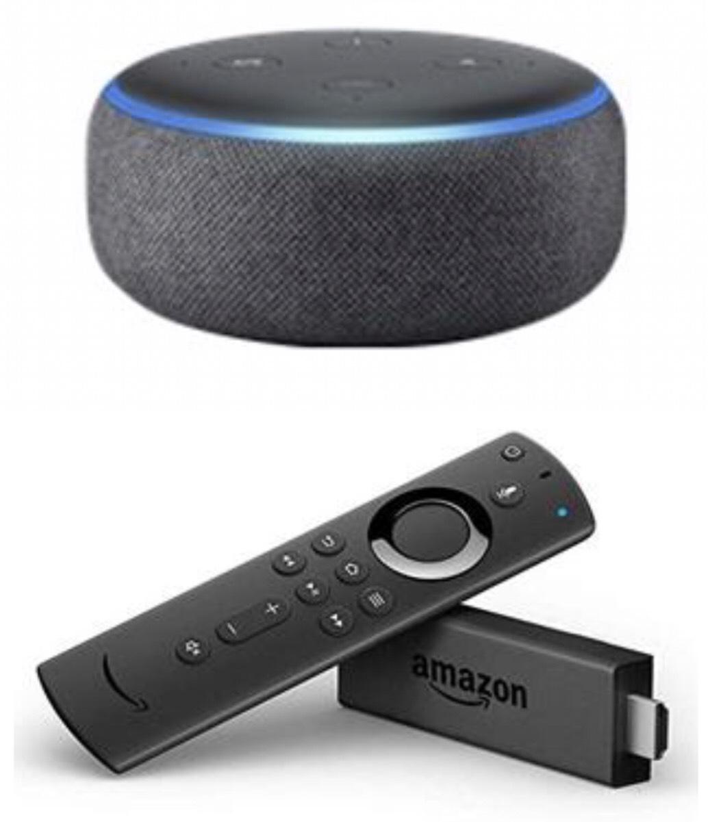 Amazon Echo Dot (3rd Gen) - (Charcoal) + Fire TV Stick with New Alexa Remote £49.98 @ BT SHOP