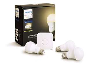 Philips Hue Starter Kit White with 3 x E27 9W at Amazon.fr for £60.03