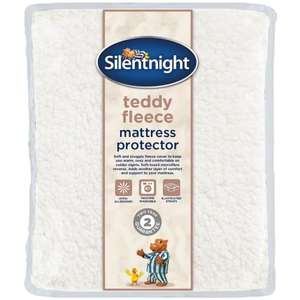 Silentnight Teddy Fleece Mattress Protector - Double £5 (other sizes reduced) @ B&M (In-Store)