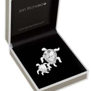 Further Reduced : Jon Richard Clear Crystal Mother With Baby Turtle Brooch £4.50 , Delivered With Code  @ Debenhams