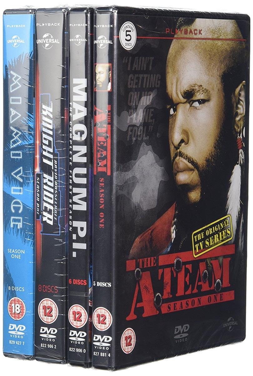 A-Team / Knightrider / Miami Vice / Magnum P.I. (Season 1 Box Set Bundle) [DVD] £10 @ Zoom.co.uk