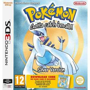 Pokemon Silver (Code in a box) Nintendo 3ds/2ds £6.95 delivered @ The Game collection