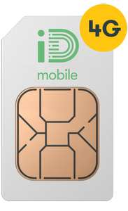 40GB 4G Data (Data Rollover) - Unlimited Calls & Texts - 30 Days Sim @ iD Mobile - Free Delivery £25