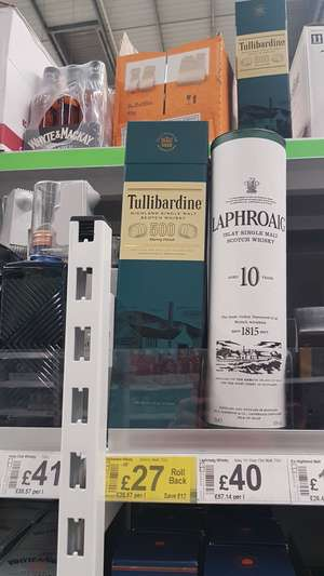 Tullibardine 500 single malt scotch whisky instore at Asda for £27