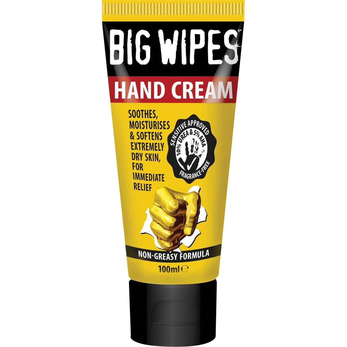 Big Wipes Hand Cream Tube 100ml, (Sensitive Approved, 10% Urea & 5% AHA, Fragrance-Free), Non-Greasy Formula, £1, In Store @ Poundland