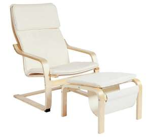 Bentwood High Back Chair & Footstool - Natural Was £90.00, Now £60.00 free C&C @ Argos