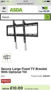 TV bracket at Asda for £10 (online and instore)