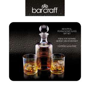 BarCraft Glass Gin / Whisky Decanter and Tumbler Gift Set rrp £26.99 now £13.99 at Amazon Prime / £18.48 non Prime